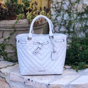 NWT Michael Kors quilted leather satchel/crossbody